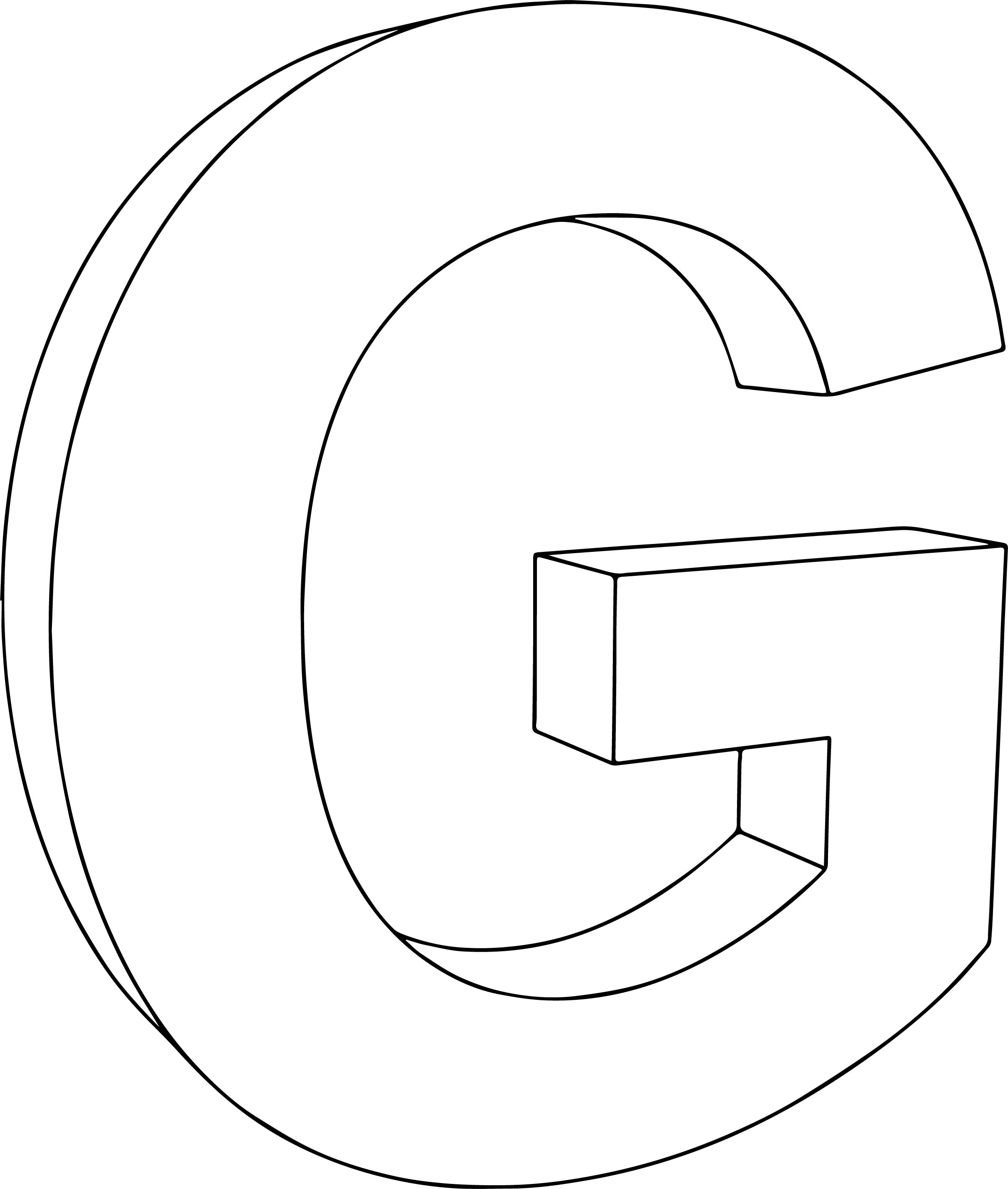 3d G Character Coloring Page