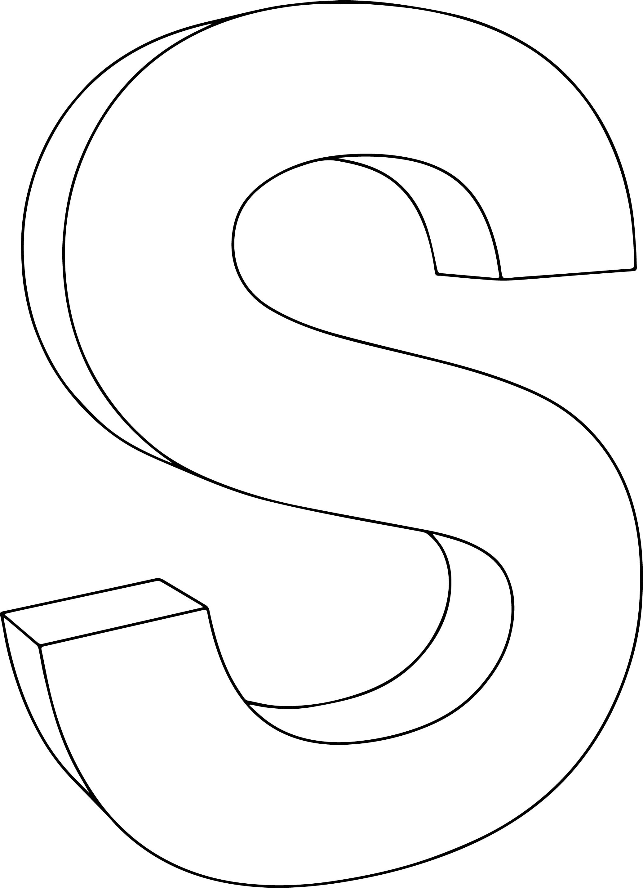 3d S Character Coloring Page