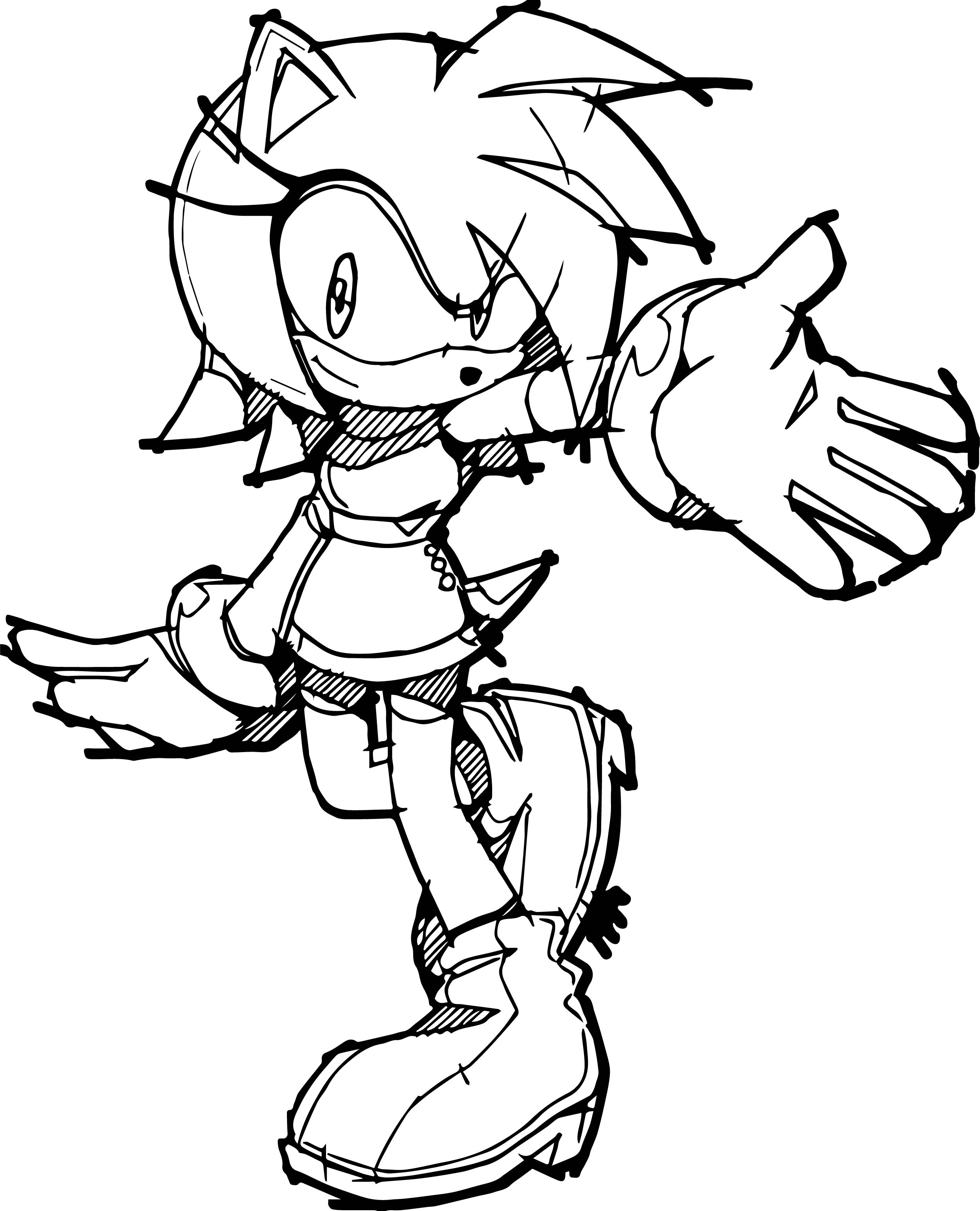 Absolutely Amy Rose Coloring Page
