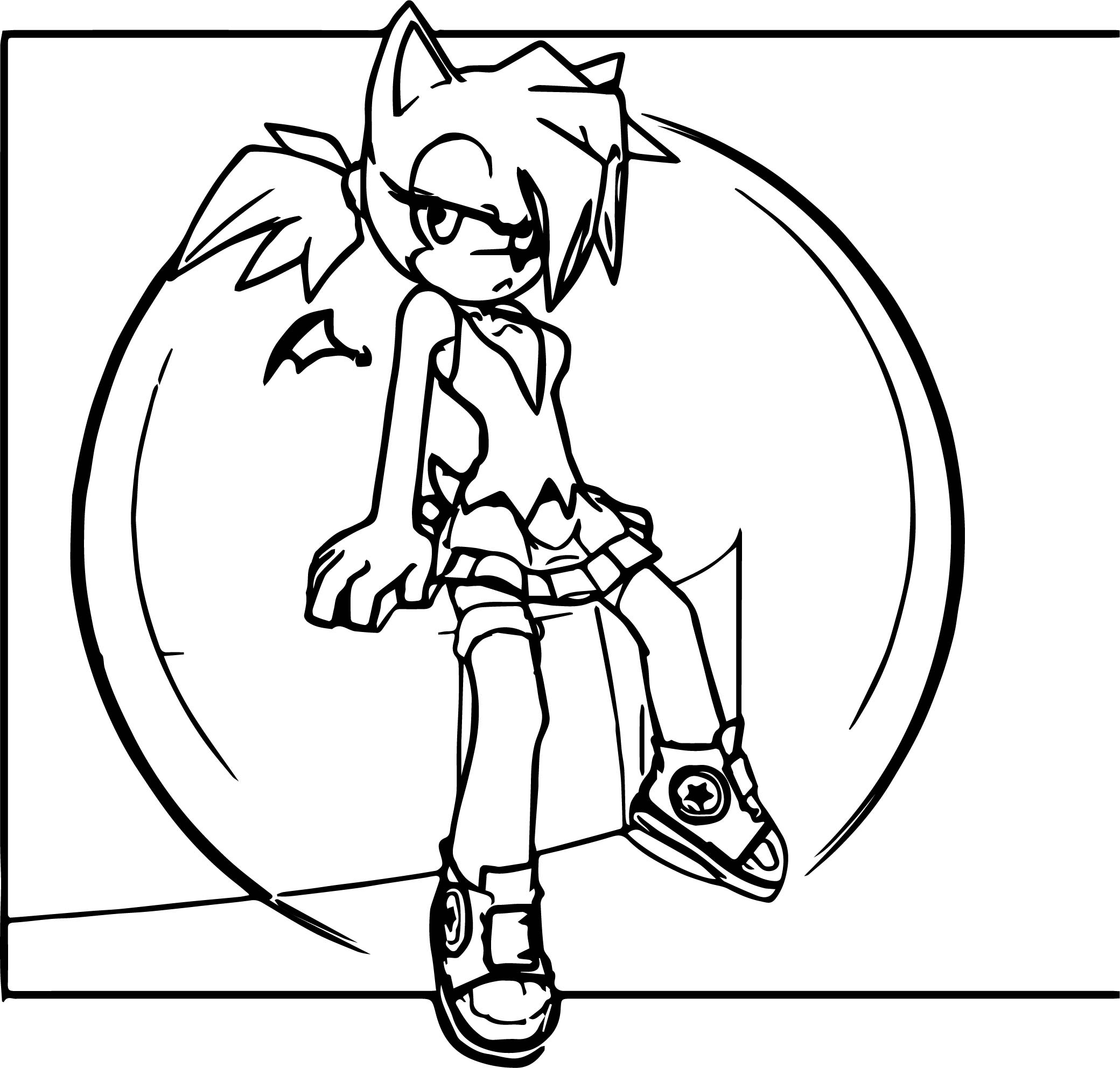 Activity Amy Rose Coloring Page