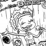 All Grown Up Sing The Blues Book Coloring Page