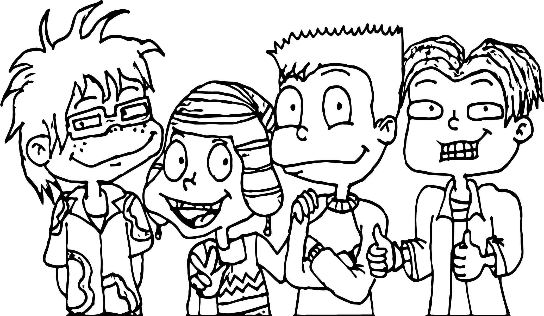 All Grown Up The Boys Coloring Page