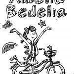 Amelia Bedelia Drawing Biycle Coloring Page