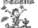 Amelia Bedelia Drawing Biycle Coloring Page