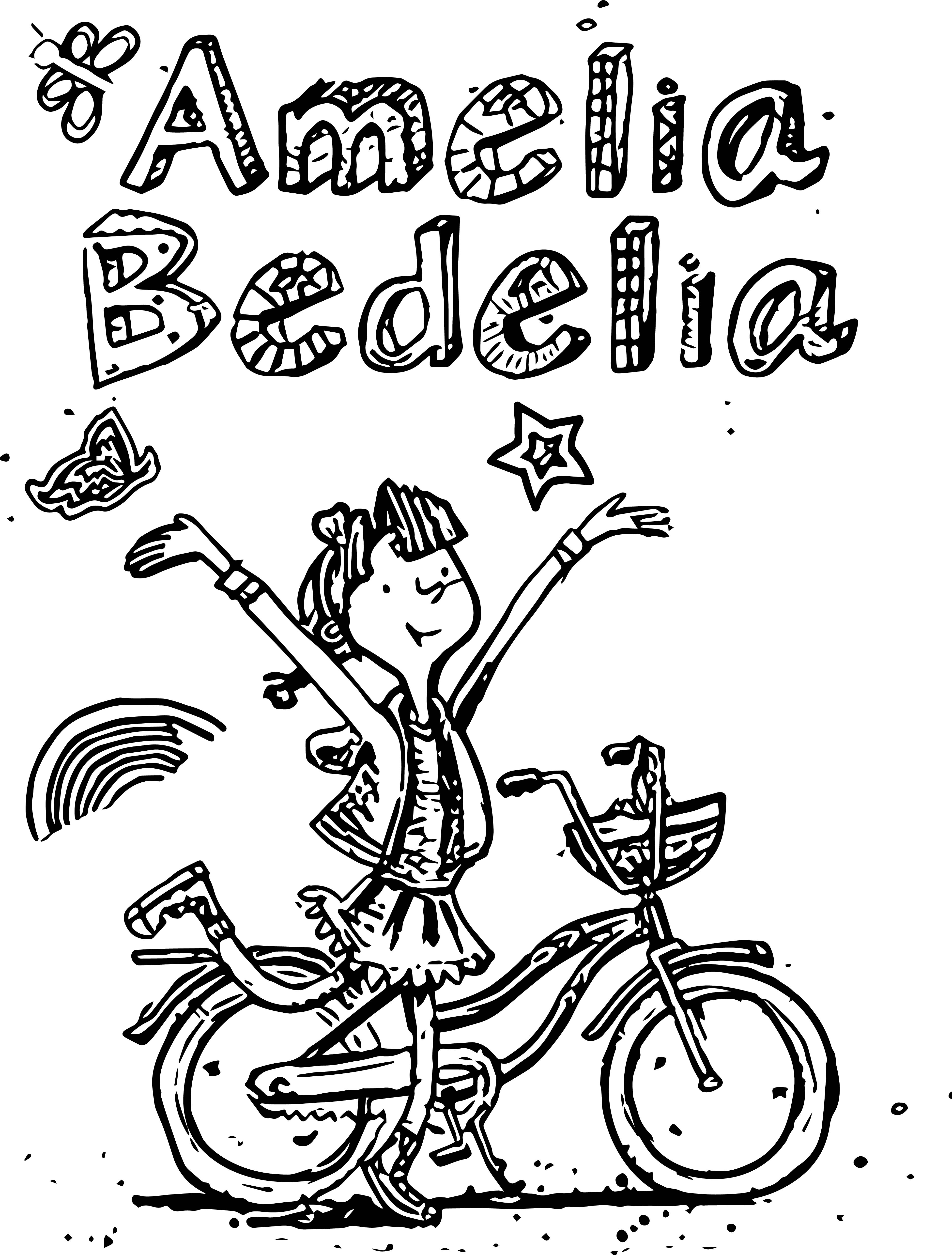 Worksheets Amelia Bedelia Worksheets amelia bedelia coloring pages drawing biycle page wecoloringpage