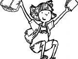 Amelia Bedelia Finish School Coloring Page