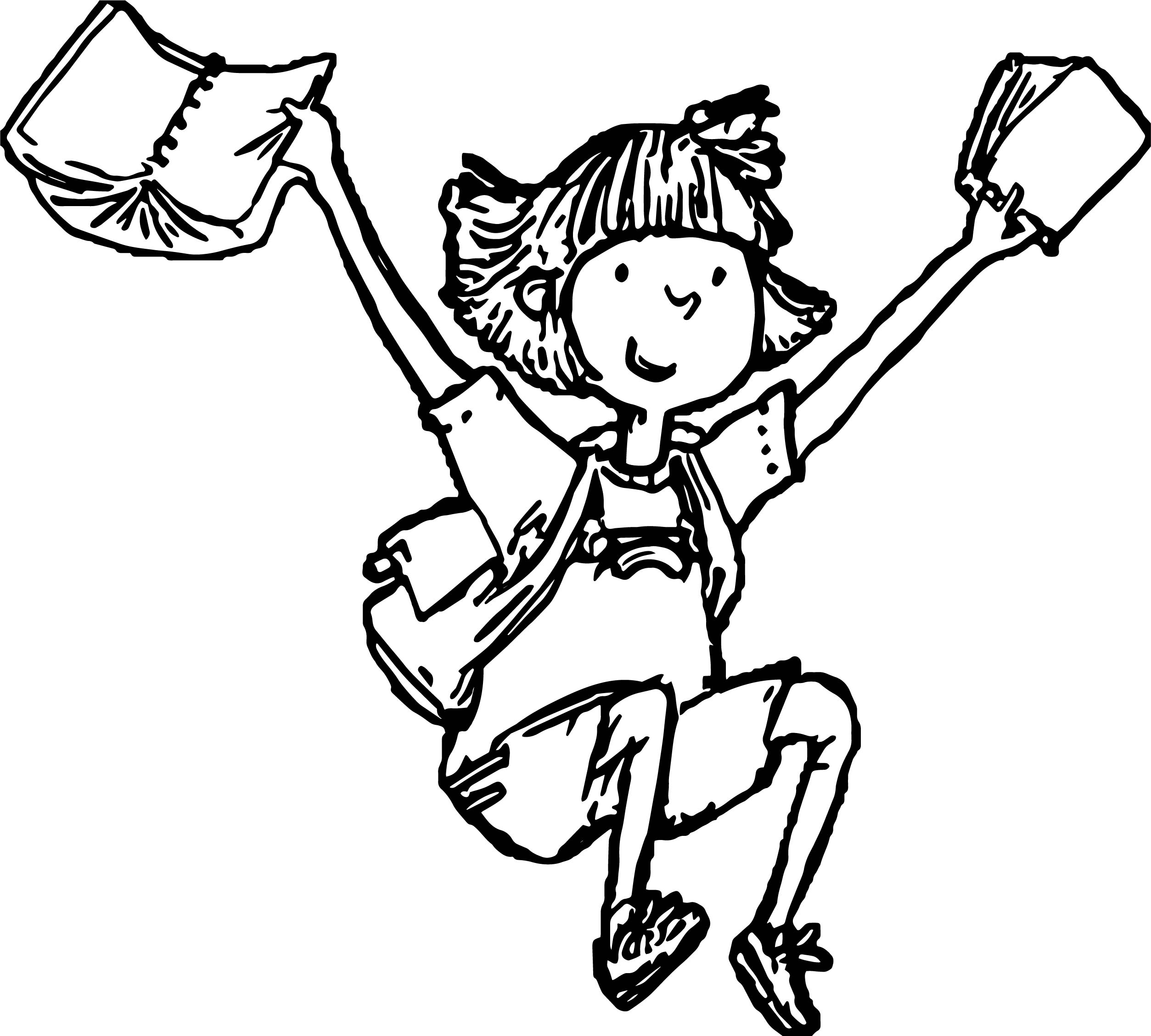 amelia bedelia coloring pages images for adults | Amelia Bedelia Finish School Coloring Page ...