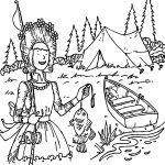 Amelia Bedelia Goes Camping Coloring Page