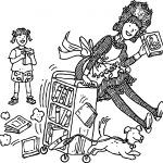 Amelia Bedelia Going On The Books Coloring Page