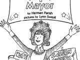 Amelia Bedelia Mayor Coloring Page
