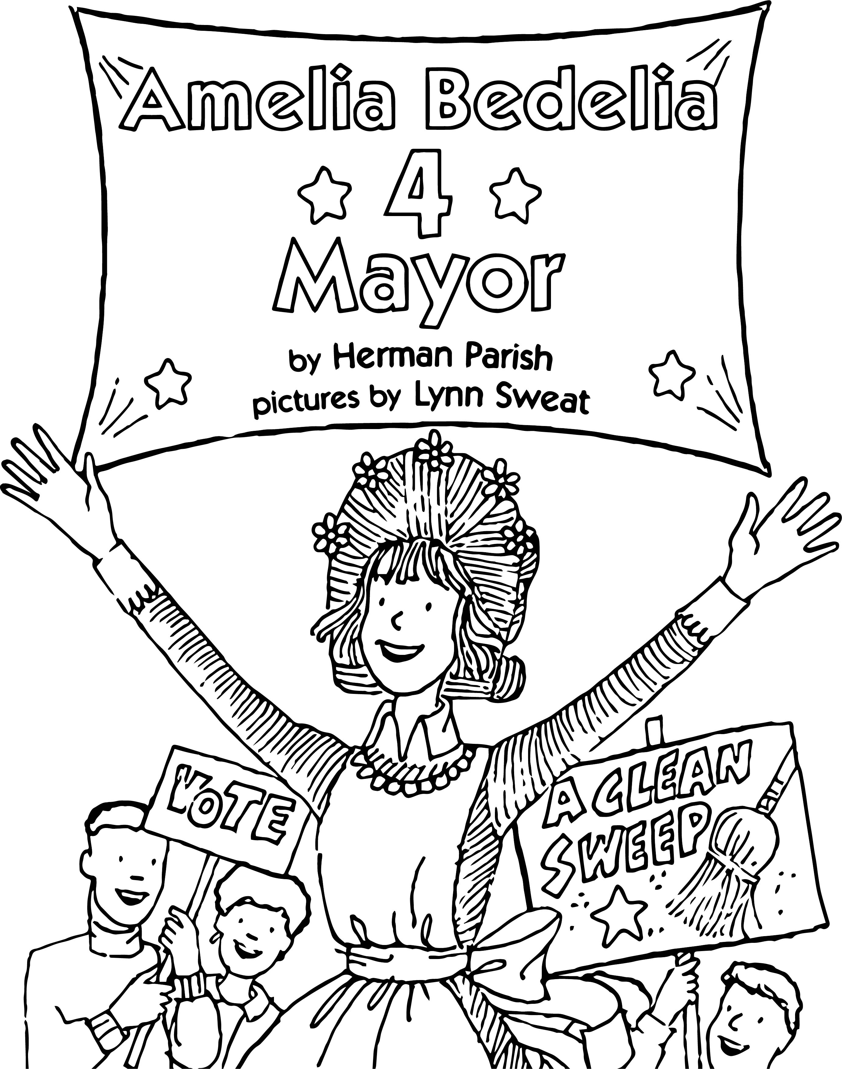 amelia bedelia coloring pages images for adults | Amelia Bedelia Mayor Coloring Page | Wecoloringpage.com