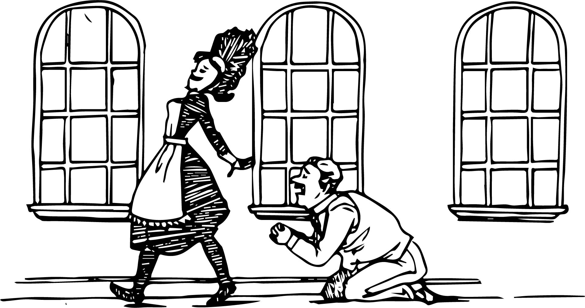 Amelia Bedelia Please Coloring Page