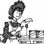 Amelia Bedelia Read Paper Coloring Page