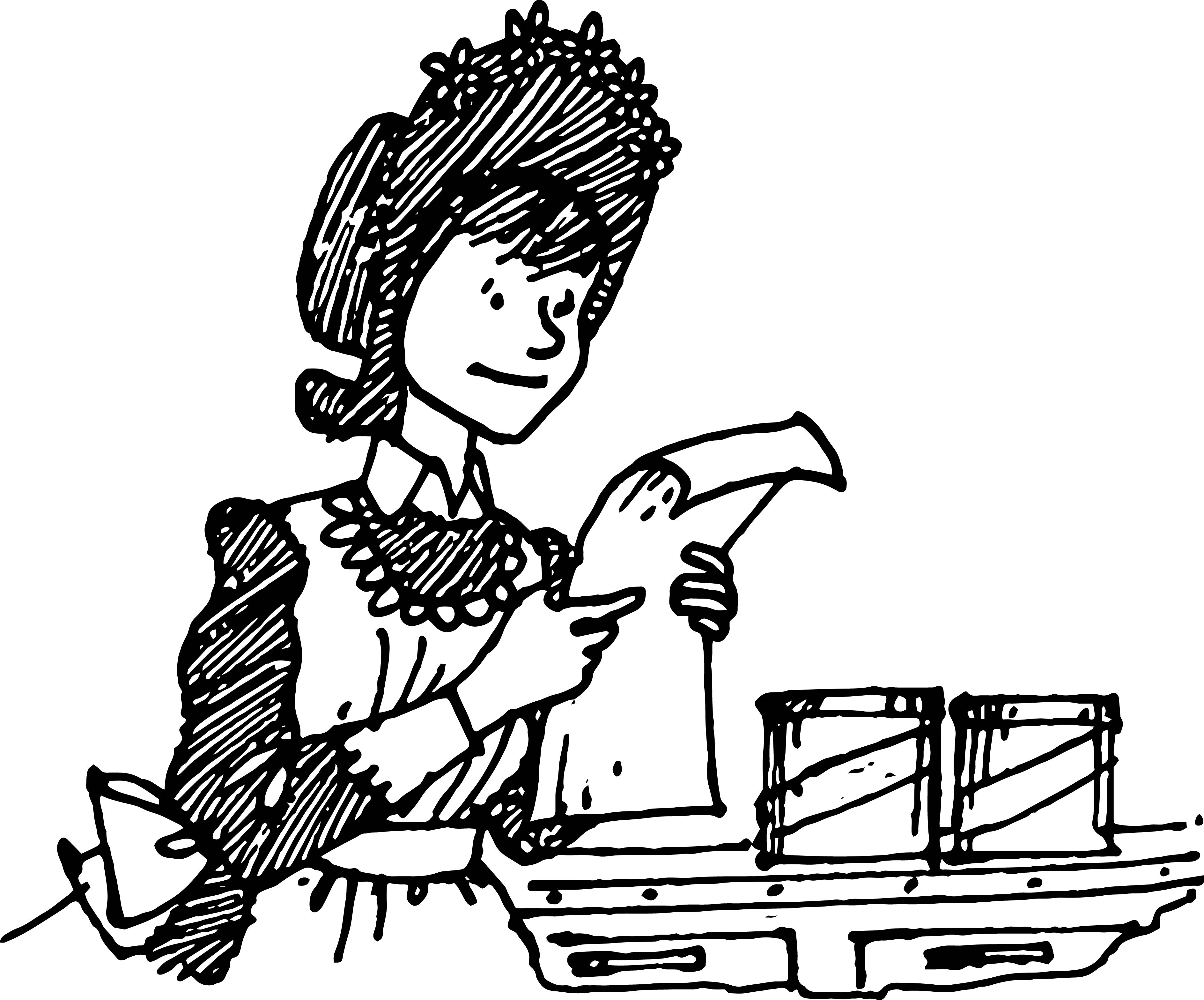 amelia bedelia coloring pages images for adults | Amelia Bedelia Read Paper Coloring Page | Wecoloringpage.com