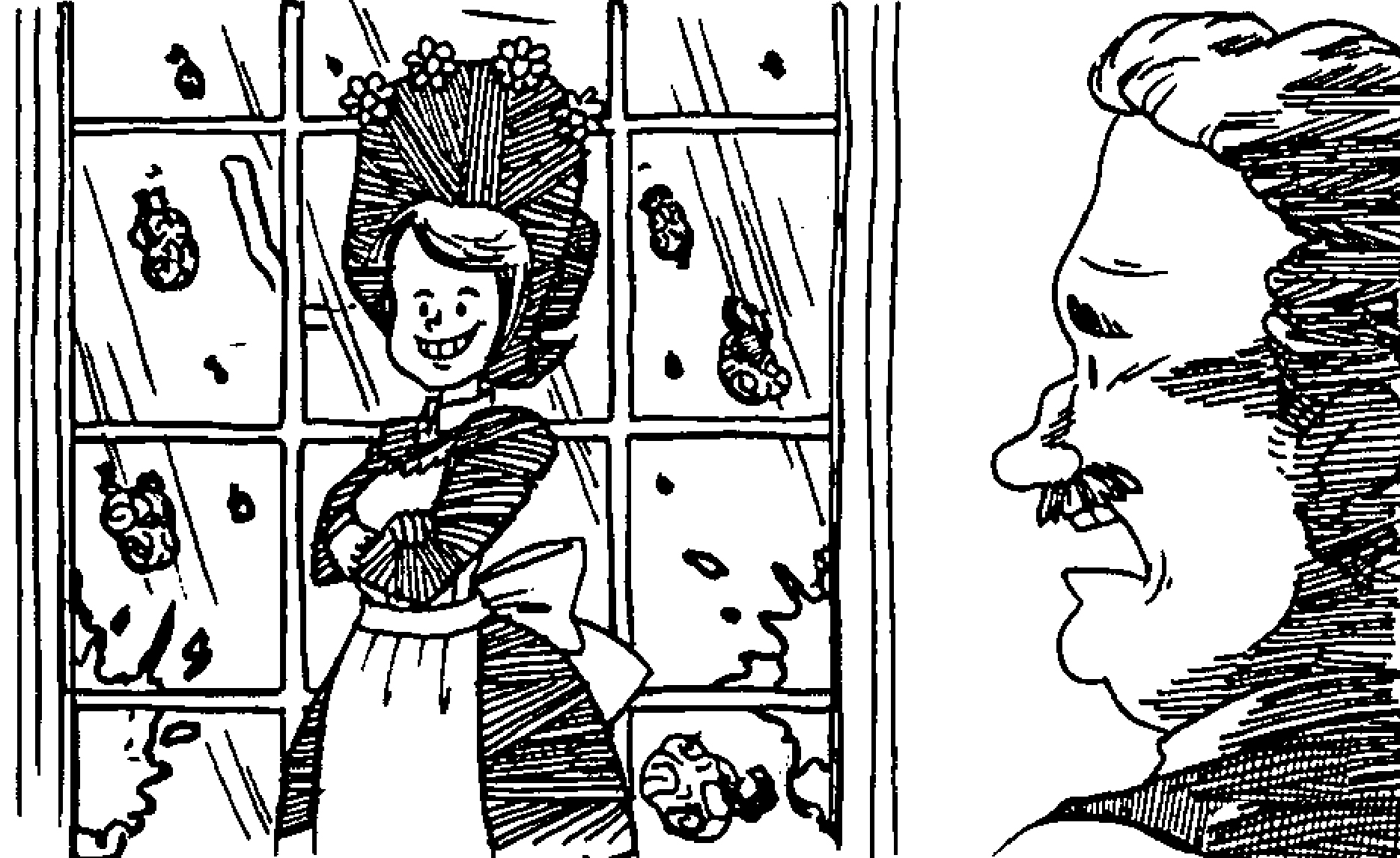 amelia bedelia coloring pages images for adults | Amelia Bedelia Window Coloring Page | Wecoloringpage.com