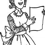 Amelia Holding Recipe Coloring Page