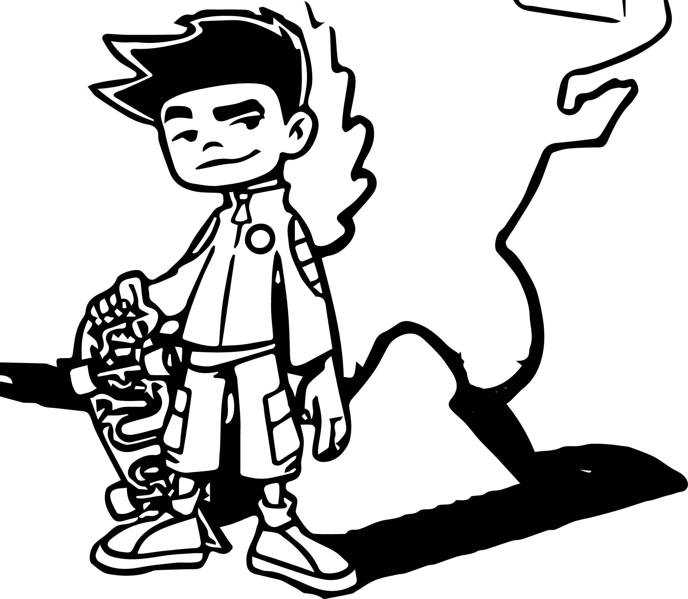 American Dragon Dragon Shadow Coloring Page