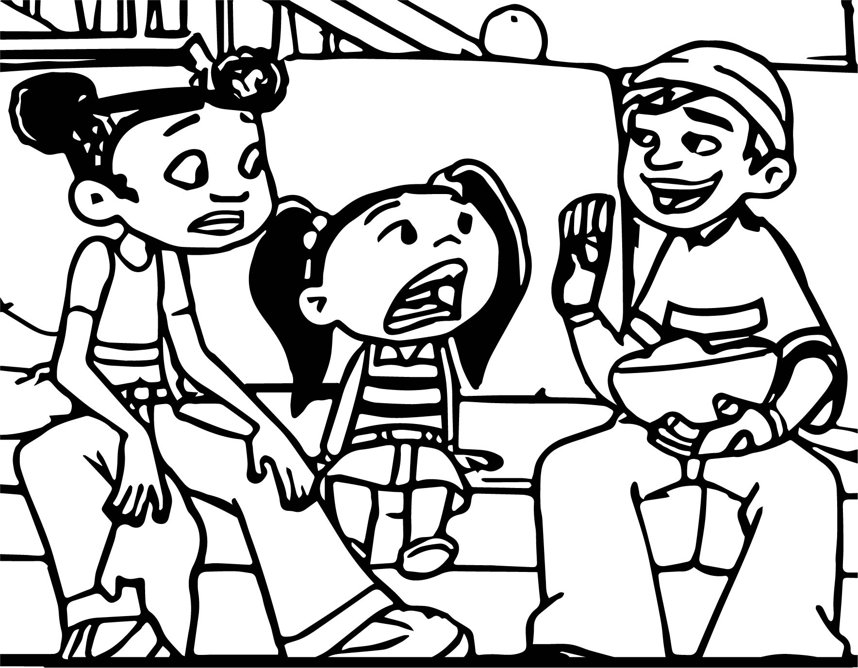 American Dragon Friends Talk Coloring Page