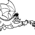 American Dragon Jake Long Attack Coloring Page