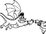 American Dragon Jake Long Attack Coloring Page