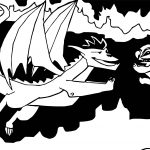 American Dragon Jake Long Black Coloring Page