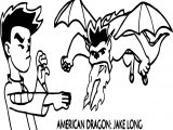 American Dragon Jake Long Fire Coloring Page
