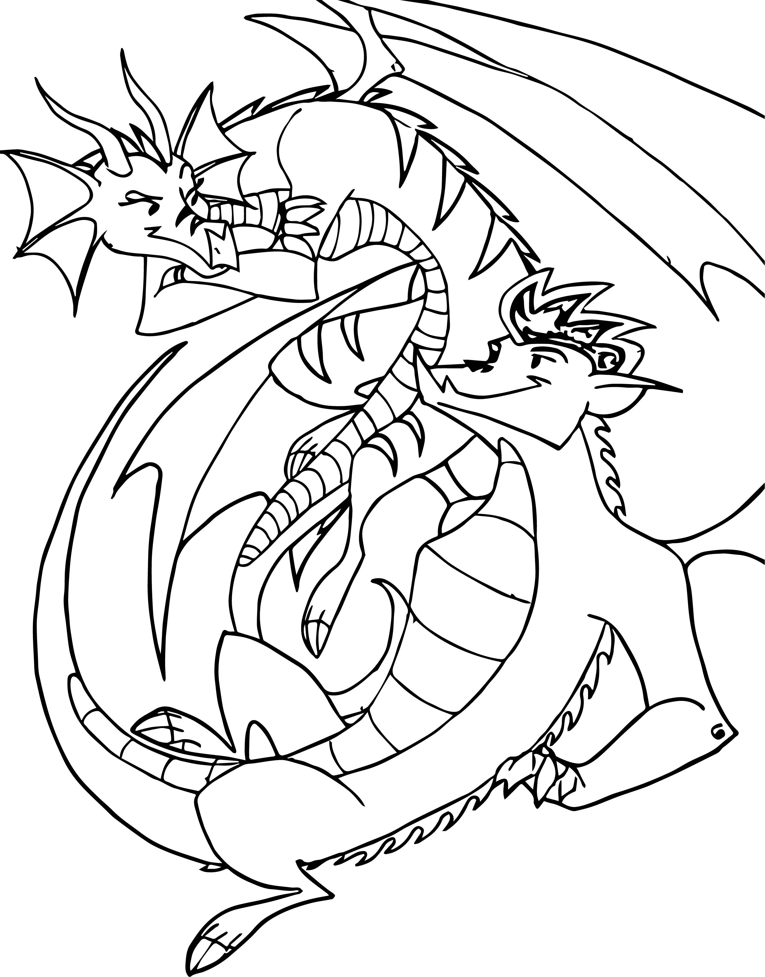 americon dragon coloring pages - photo#42