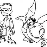 American Dragon Jake Long Kick Coloring Page