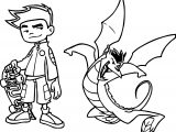 American Dragon Jake Long Kick Coloring Page