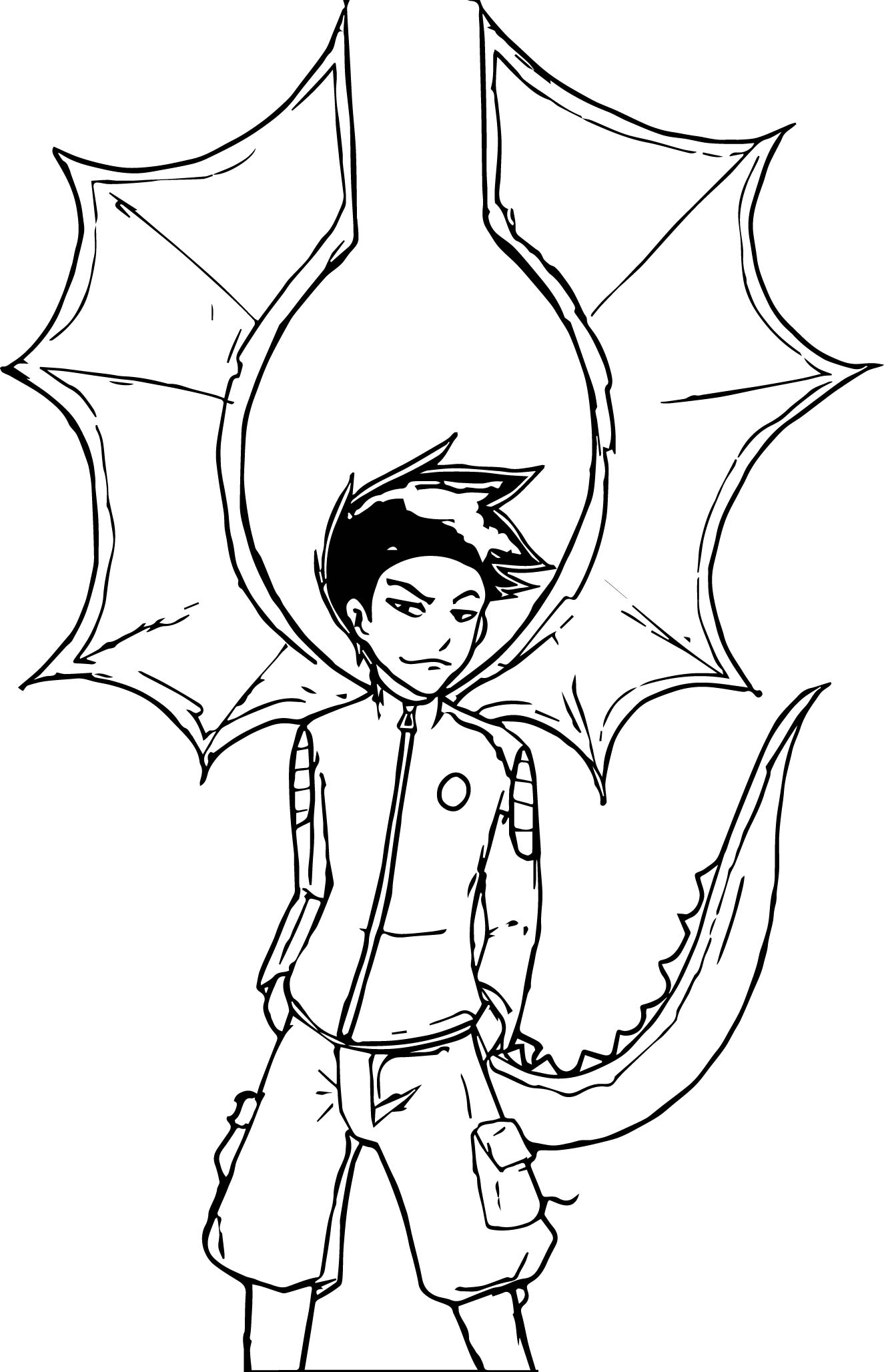 American Dragon Jake Long Night Coloring Page