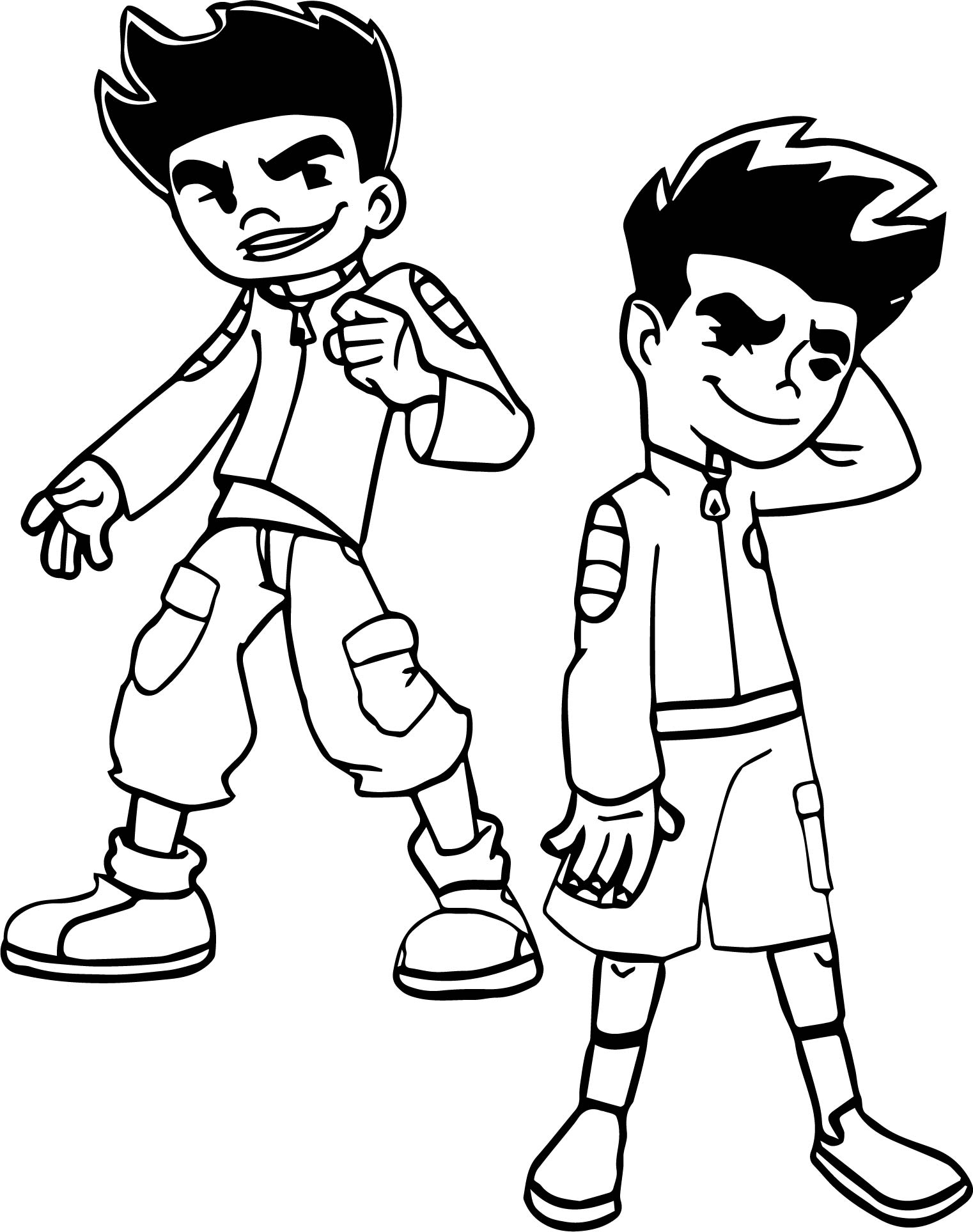 American Dragon Jake Long Poses Coloring Page