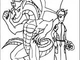 American Dragon Jake Long Power Team Coloring Page