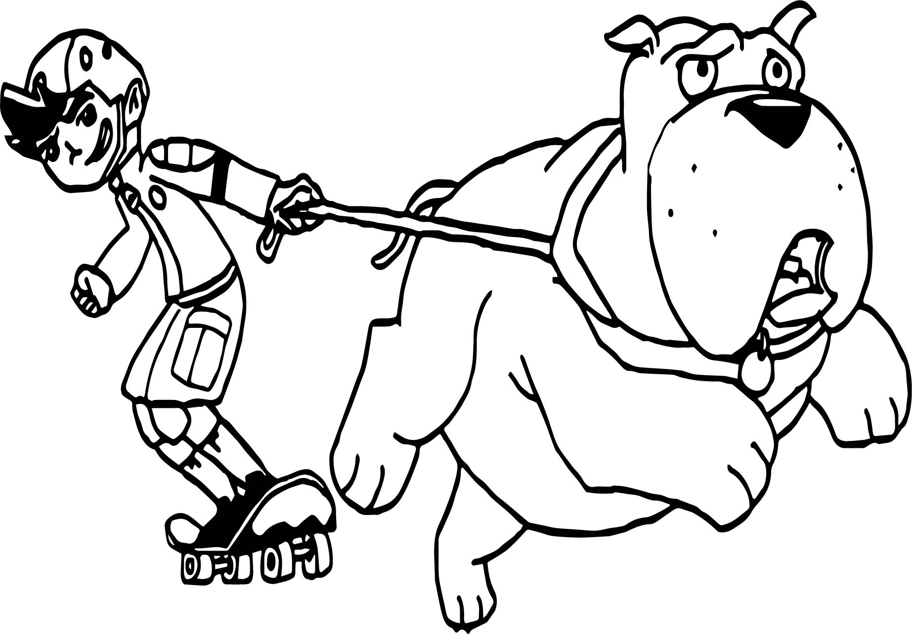 American Dragon Jake Long Skate With Dog Coloring Page
