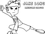 American Dragon Jake Long Staying Coloring Page