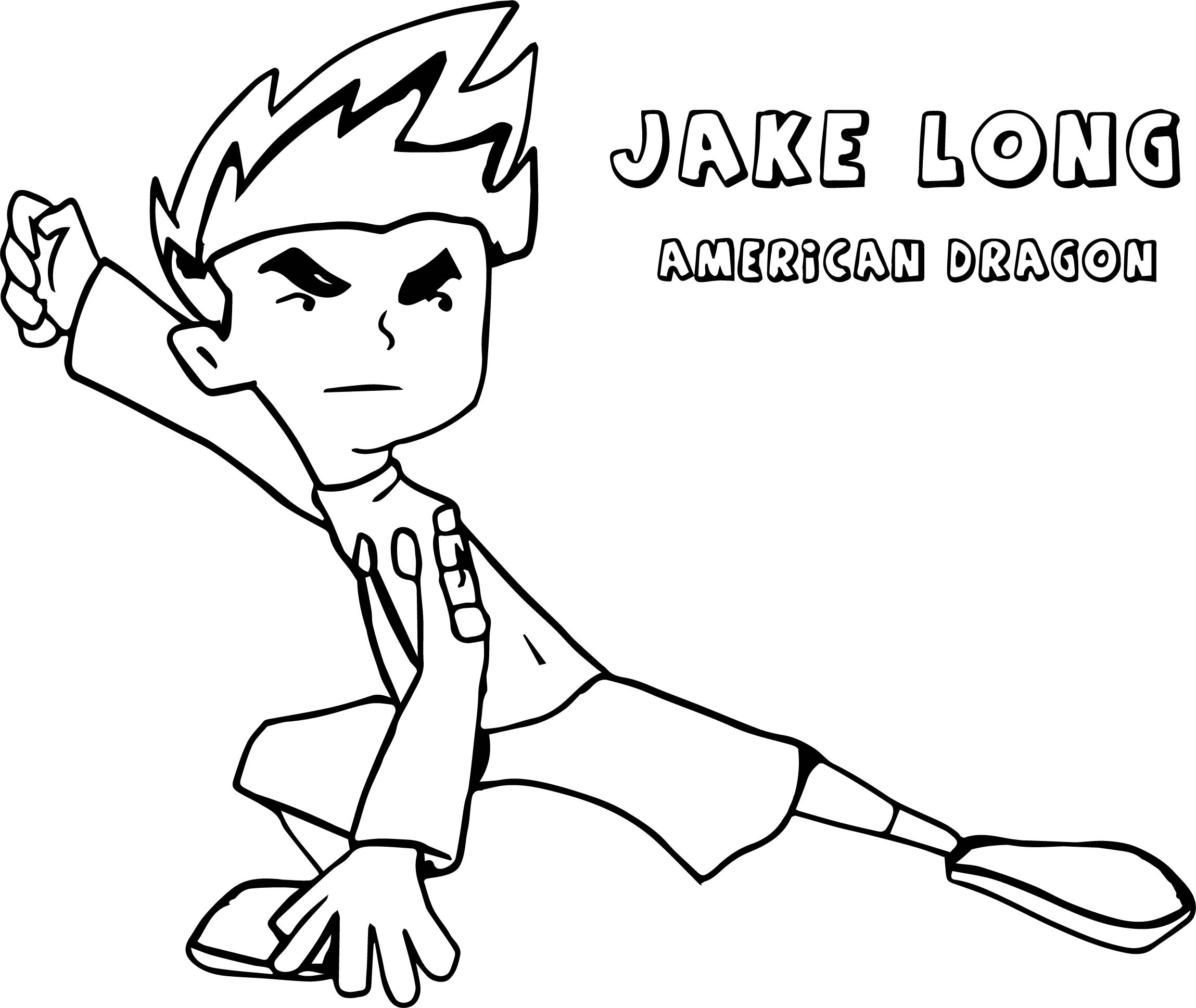 American Dragon Jake Long Staying Coloring Page