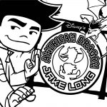 American Dragon Jake Long Time Coloring Page