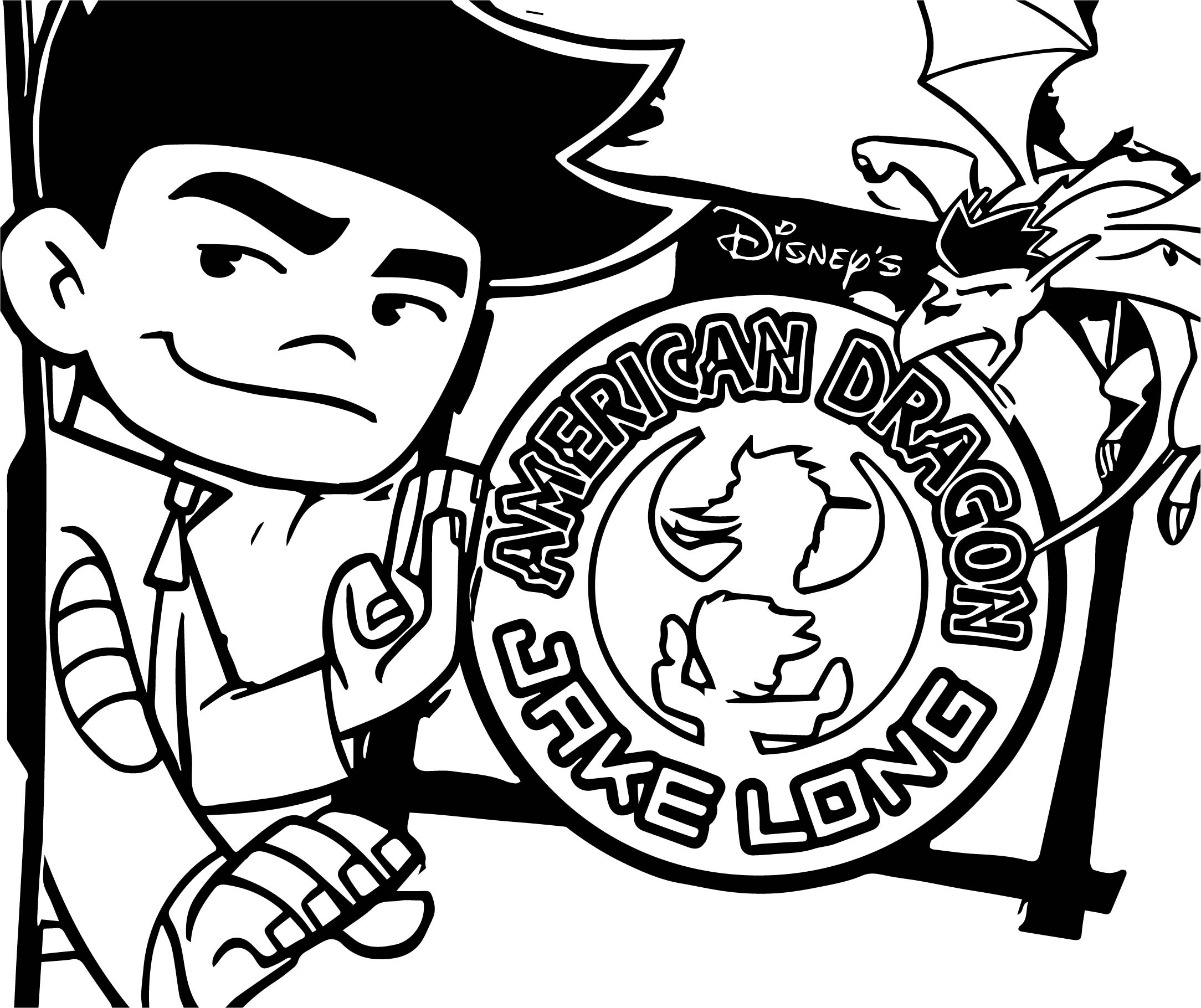 American Dragon Jake Long Time Coloring Page
