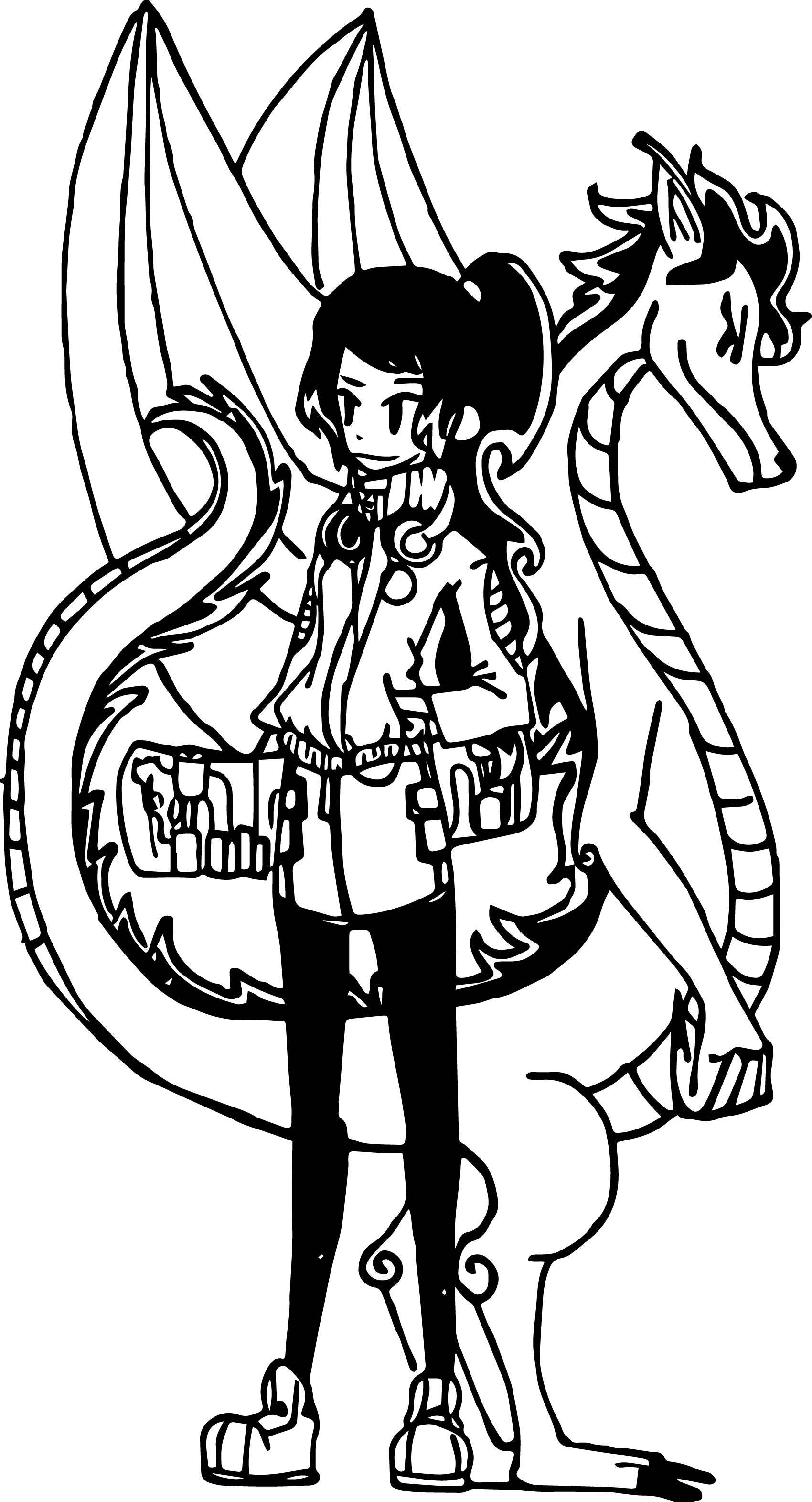 American Dragon Japan Coloring Page