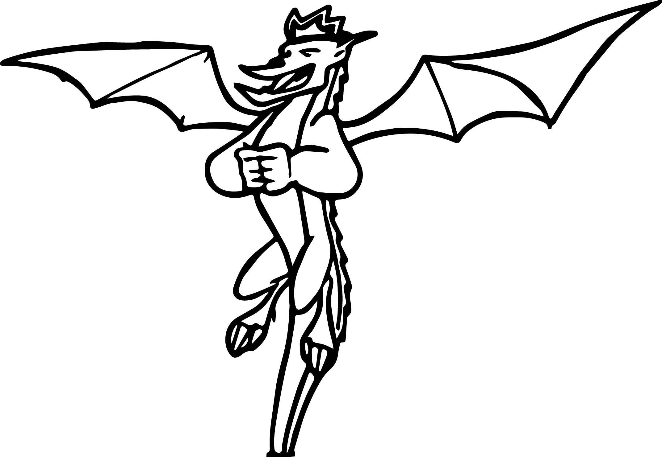 American Dragon Laugh Coloring Page