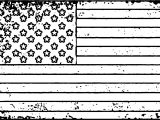 American Flag Grunge Coloring Page