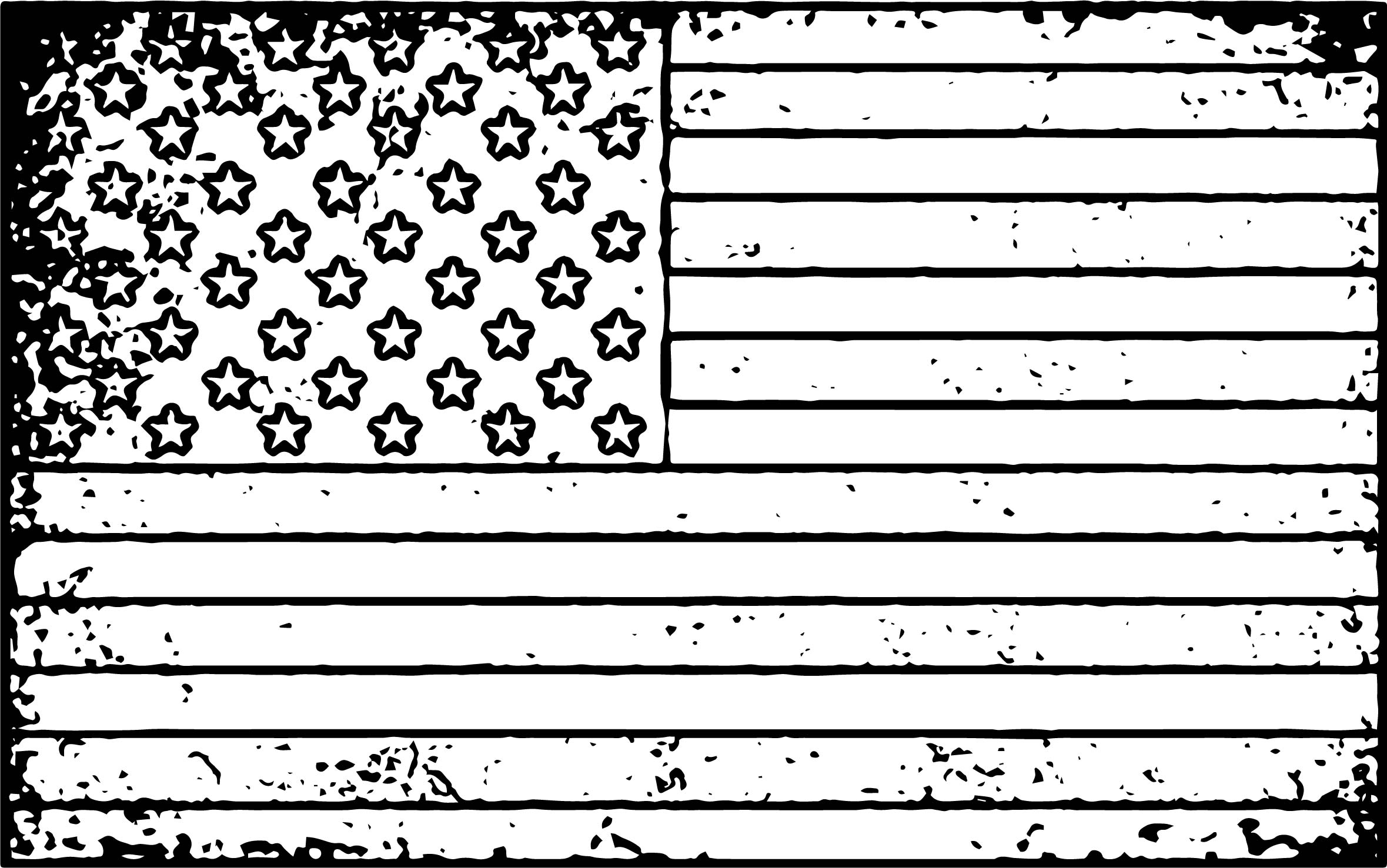 Coloring pages usa flag - American Flag Grunge Coloring Page