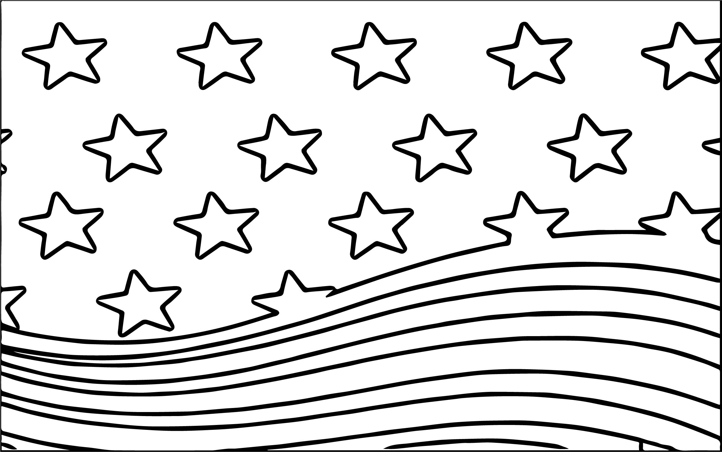 American Flag Wind Coloring Page