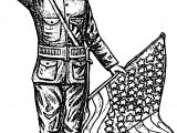 American Soldier Coloring Page