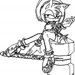 Amy Rose Able Coloring Page