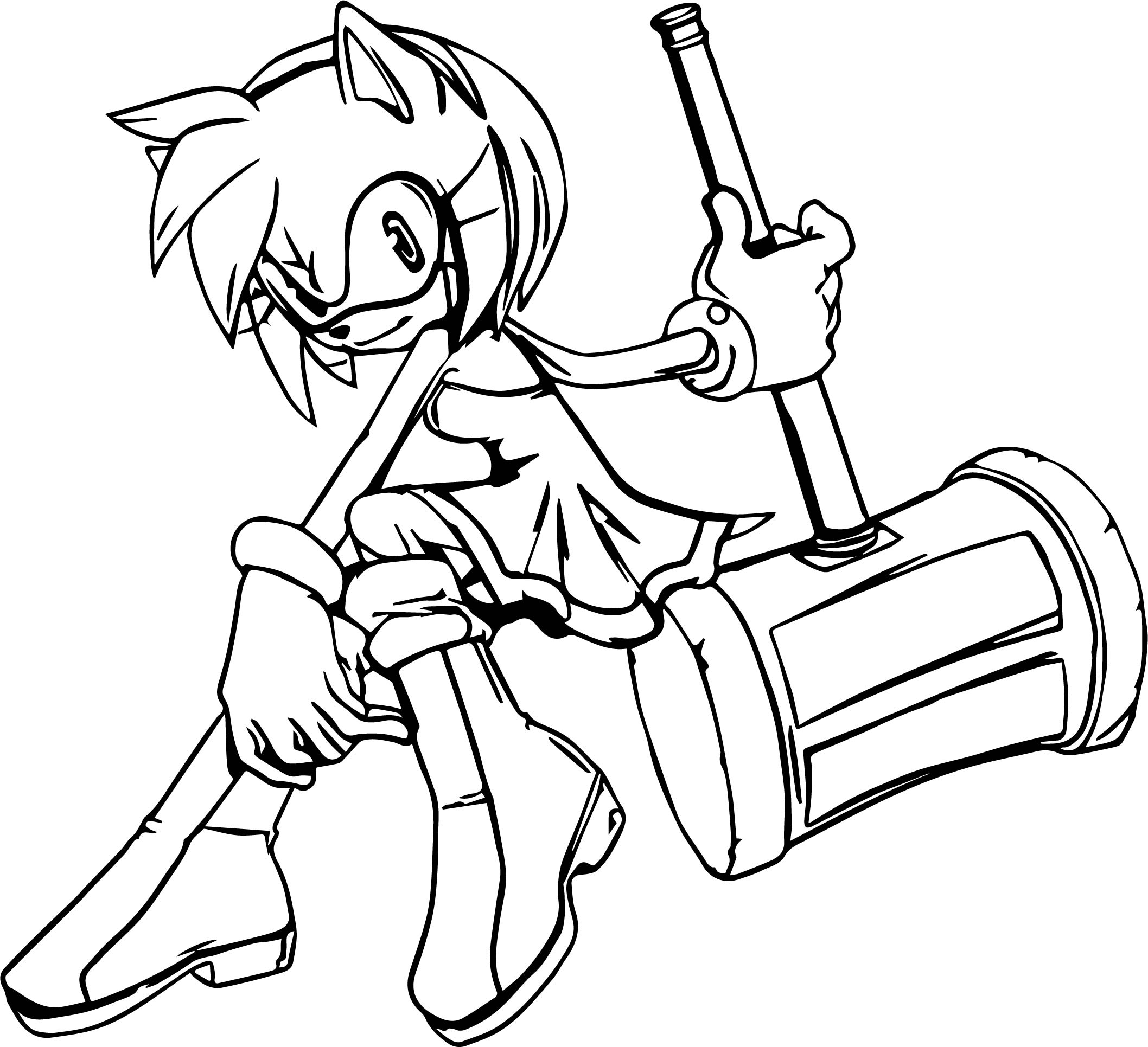 Amy Rose Abroad Coloring Page