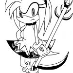 Amy Rose Access Coloring Page
