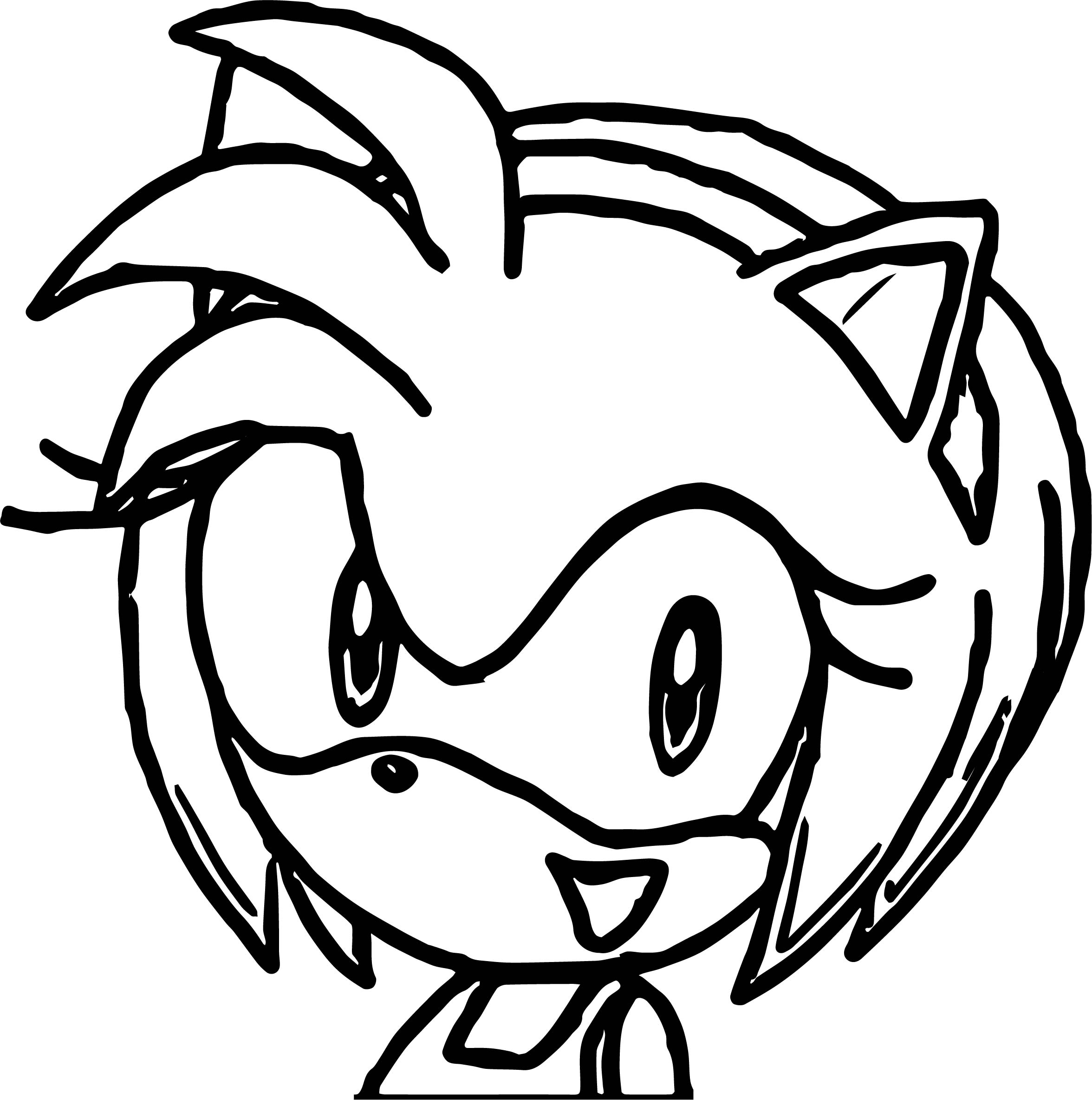 Amy Rose Big Face Coloring Page