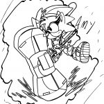 Amy Rose Boom Coloring Page