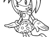 Amy Rose Bow Coloring Page
