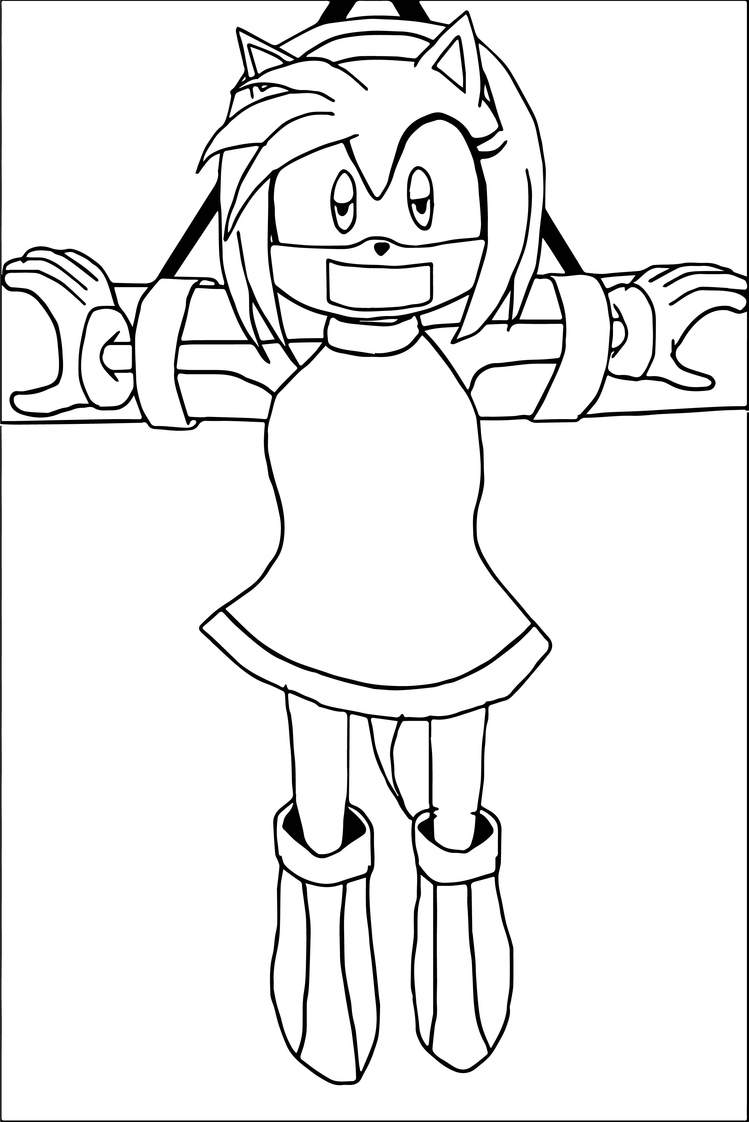 Amy Rose Cathed Coloring Page